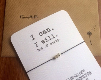 I can. I will...Wish String Bracelet...