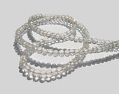 Crystal Quartz Micro Faceted Rondelles AAA 3.5-4.5mm, 8 inch Strand