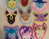 Felted Pokemon Eeveelution Badges