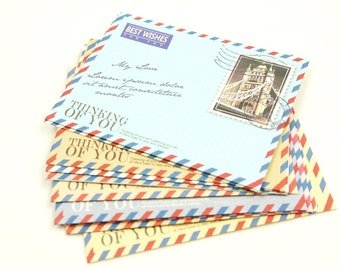 Mini Envelope Set - Around Europe - 10 pieces