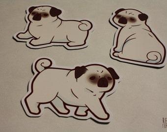 cute pug fridge magnets