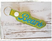 Bears In The Hoop Snap Tab Key Fob Machine Embroidery Design