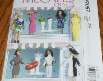 New McCall's Crafts Pattern  fashion doll Pattern M7067