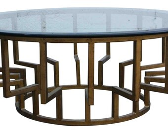 New York Round Modern Coffee Table Floor Model