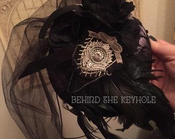 Nevermore Raven Fascinator Hat