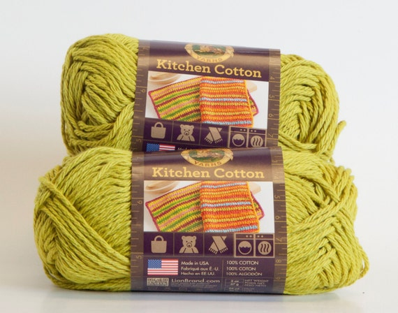 Lion Brand Kitchen Cotton Kiwi By Penandhook On Etsy