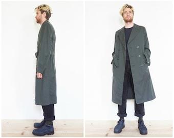 Gabardine Wool Military Trench Coat / Size 36
