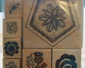 Flowers Assorted Mounted Rubber Stamps
