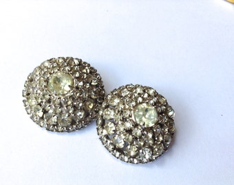 Kramer NY Rhinestone Earrings Vintage Mad Men Fashion Jewelry Accessory