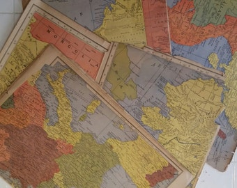 Vintage atlas maps 1943
