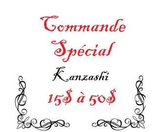 Kanzashi sur mesure
