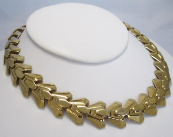 Vintage Choker Necklace - Stunning Link Necklace - Gold-tone
