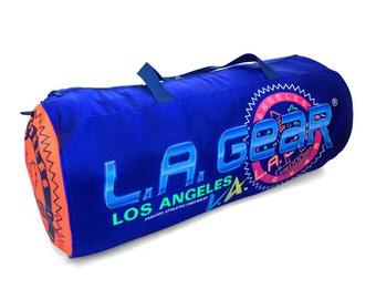 Hyper-Rare 90s Neon Multi Logo L.A Gear XXL Travel Size Duffle Bag