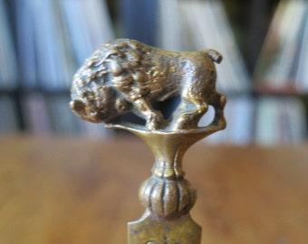 Antique 1901 Pan American Expo Buffalo Bronze Letter Opener