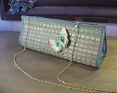 Bamboo and Green Clutch--Butterfly Placemat Bag