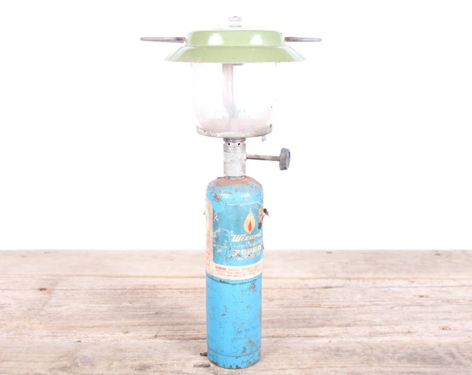 Antique Camping Lantern / Bernz O Matic Porta Light Propane Lantern / Outdoor Decor / Camping Prop Display / Vintage Tool / Unique Mens Gift