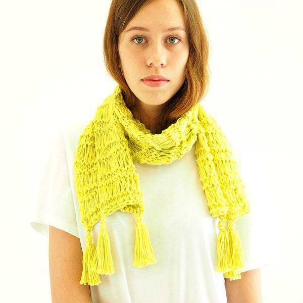 Foulard en kit de tricot apprendre tricoter d butant - Apprendre a tricoter debutant ...