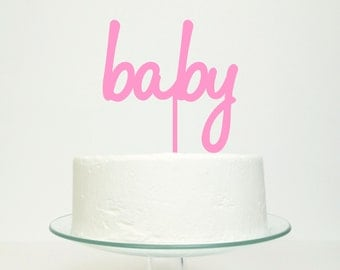 Baby Cake Topper - New Baby, Baby Shower or Christening Choose Color