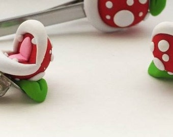 Mens Piranha Plant Cuff Links