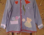 70s JC Penney decorated folksy denim style shirt