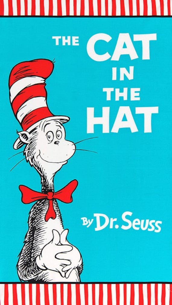 Dr Seuss Book Cover Printables : The cat in hat book panel from robert kaufman