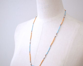 Dainty Minimalist Tribal Japanese Seed Beads Bar Necklace