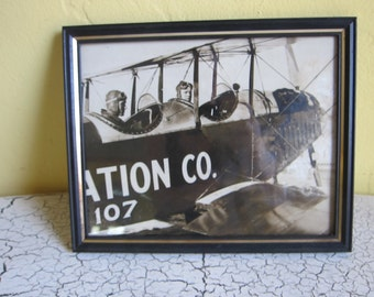 Original Early Aviatrix Photograph Aviation Co Airplane Photo ~ Unique Aviation Gift Ideas for Pilots, Original Dad Present, Mancave Decor