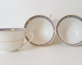 Antique Grindley China Tea Coffee Cups Neoclassical China Serving Pieces Grindley China Monmouth Victory Pattern Gift Under 40