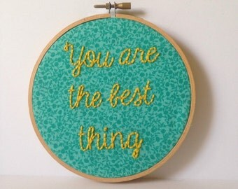 "Handmade ""You Are the Best Thing"" Ray LaMontagne Lyrics - Hoop Art"
