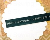 Washi Tape: Black Happy Birthday