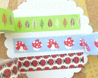 Washi Tape Set: Ladybug Forest