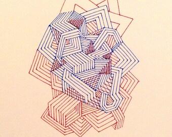 Original Geometric Drawing