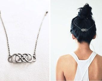 Boho Chic Hair Chain: Triple Infinity Being