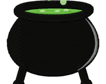 Halloween Cauldron Embroidery Design - Instant Download