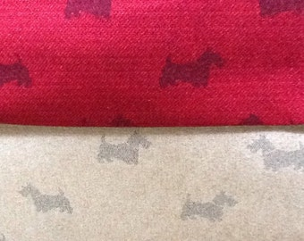Fryetts Scottie Dog Fabric by the half metre