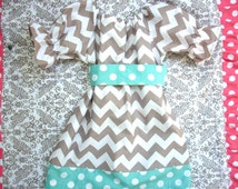 Handmade girls dress party dress outfit girls clothing kids clothing