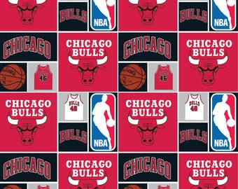 NBA Chicago Bulls Cotton Fabric by the yard
