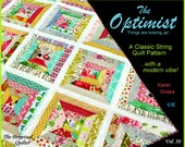 Optimist Quilt Pattern, Modern Quilt, String Quilt, Scrap Quilt, Easy Quilt