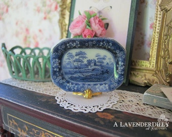 Blue Tower Tray for Dollhouse
