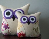 Owl Accent Pillow - Spring Flowers - Home Decor - Summer Collection - Large or Small
