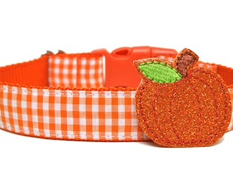"Pumpkin Add On Dog Collar Accessory FOR 1"" BUCKLE COLLAR"