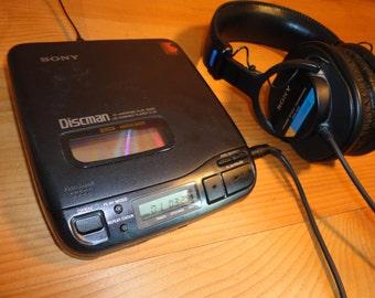 SALE ! Rare 1 Bit Dac 1992 Sony DISCMAN D-34 Audiophile Digital Portable CD Player Disc Man Japan High Quality Audio Sound Line Out As Is
