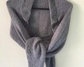 Gray Shawl Wrap
