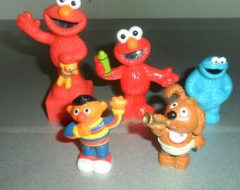 5 Vintage Sesame Street Figurines