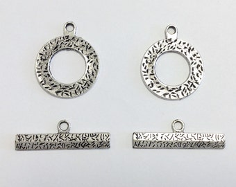 2 Silver Plated Toggle Clasps