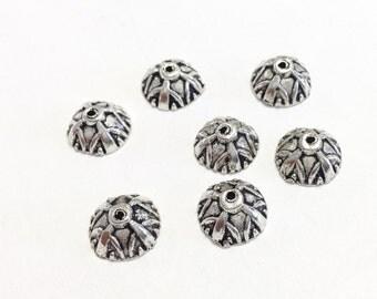 7 kumihimo bead caps