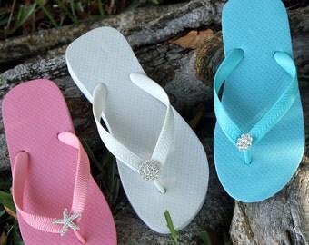 8 Pair Lot Clearance Womens Flip Flop-Wedge Flip Flop- Bulk Sale Flip Flop-Bridal Flip Flops-Reception Flip Flops-Wedding Gifts