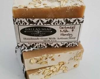 Oatmeal Milk and Honey Goat Milk Soap