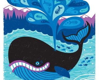 "Whale of a Tale - 8.5X11"" print"