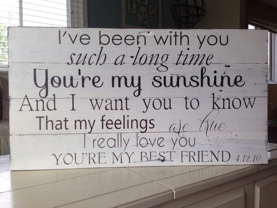 Wedding Present Shes My Best Friend Lyrics : Queens lyrics to Youre my best friend painted on barm wood ...